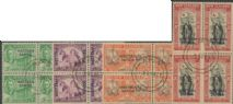 Samoa SG215-8 Peace Issue of New Zealand overprinted Western Samoa set of 4 in blocks of 4
